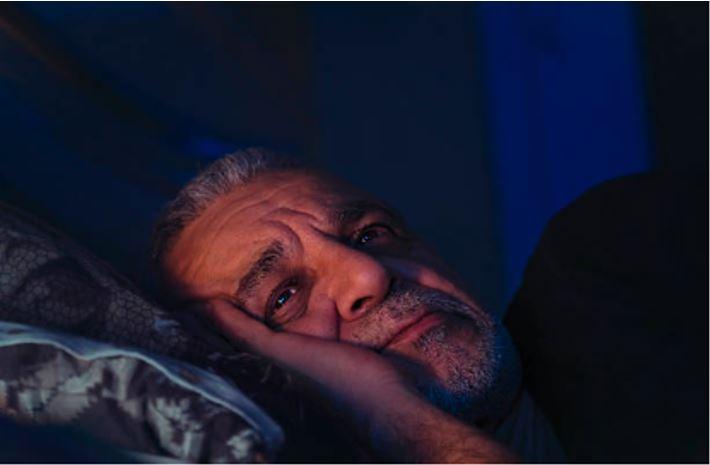 older adult unable to sleep