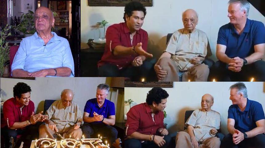 Sachin Tendulkar and Vasant Raiji